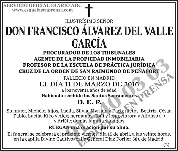 Francisco Álvarez del Valle García